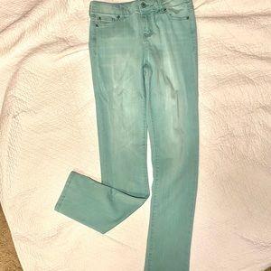 Celebrity pink girls light green 14 seafoam jeans